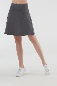 Albero dámská úpletová sukně z biobavlny - šedá antracit