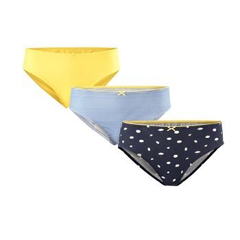 IMALA dámské kalhotky slips z biobavlny - sada 3 ks