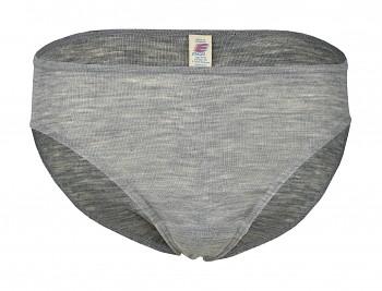 Dámské kalhotky z merino vlny a hedvábí - světle šedá melange