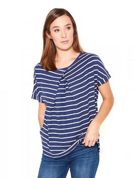 Hempline BOXY dámský top s krátkými rukávy - modrá proužek