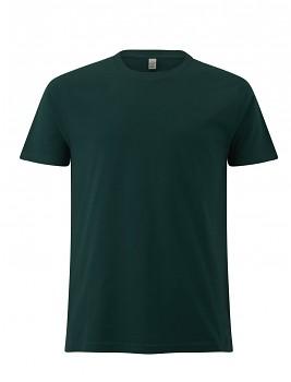 Pánské/unisex  tričko s krátkými rukávy z 100% biobavlny - zelená bottle