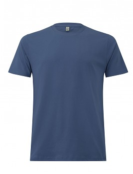 Pánské/unisex  tričko s krátkými rukávy z 100% biobavlny - modrá faded denim