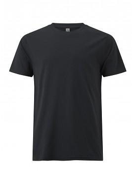Pánské/unisex  tričko s krátkými rukávy z 100% biobavlny - černá ash