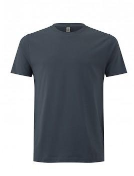 Pánské/unisex  tričko s krátkými rukávy z 100% biobavlny - šedá light charcoal