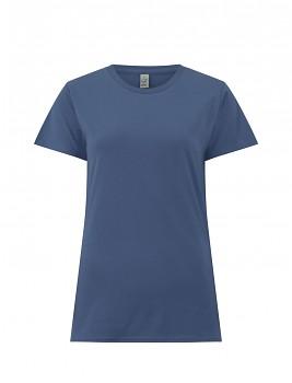 Dámské tričko s krátkými rukávy z 100% biobavlny - modrá faded denim