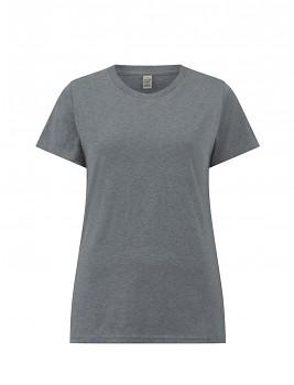 Dámské tričko s krátkými rukávy z 100% biobavlny - šedá melange