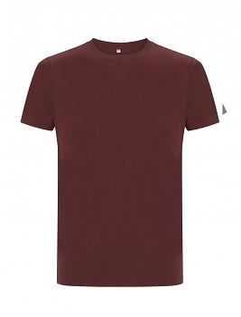CC Pánské tričko ze 100% biobavlny - fialová burgundy