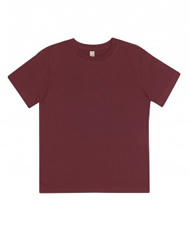 Dětské tričko z 100% biobavlny - fialová burgundy