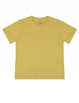 Dětské tričko z 100% biobavlny - žlutá buttercup