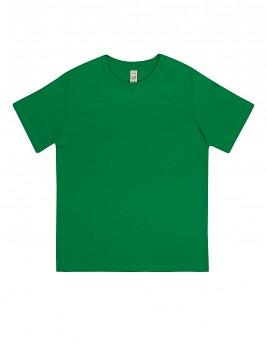 Dětské tričko z 100% biobavlny - zelená kelly