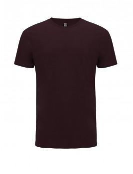 SALVAGE Unisex tričko z recyklované biobavlny a PET - fialová burgundy