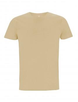 Pánské/unisex  tričko s krátkými rukávy ze 100% biobavlny - béžová camel