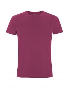 Pánské/unisex  tričko s krátkými rukávy ze 100% biobavlny - fialová berry