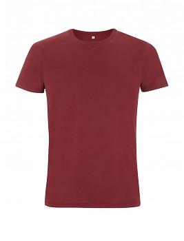 Pánské/unisex tričko s krátkými rukávy ze 100% biobavlny - fialová burgundy