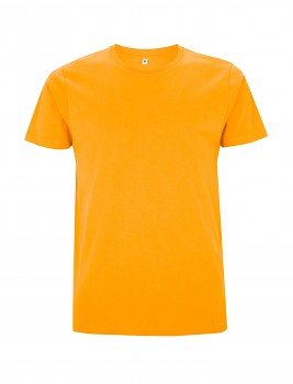 Pánské/unisex tričko s krátkými rukávy ze 100% biobavlny - žlutá gold