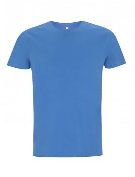Pánské/unisex tričko s krátkými rukávy ze 100% biobavlny - modrá french