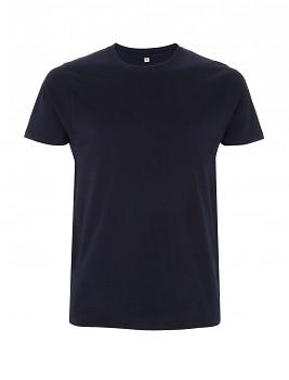 Pánské/unisex tričko s krátkými rukávy ze 100% biobavlny - tmavě modrá navy
