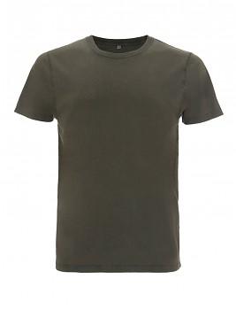 Pánské/unisex tričko s krátkými rukávy ze 100% biobavlny - zelená stone wash