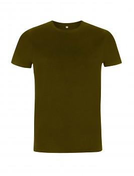 Pánské/unisex tričko s krátkými rukávy ze 100% biobavlny - khaki