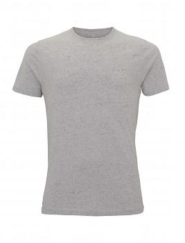 Pánské/unisex  tričko s krátkými rukávy ze 100% biobavlny - bílá marl