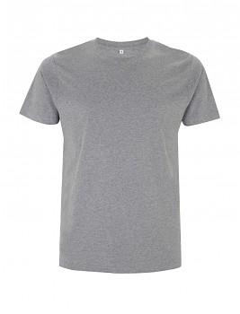 Pánské/unisex  tričko s krátkými rukávy ze 100% biobavlny - šedá melange