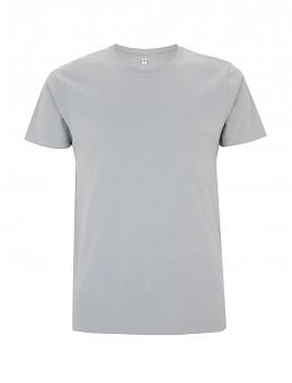 Pánské/unisex  tričko s krátkými rukávy ze 100% biobavlny - šedá sport