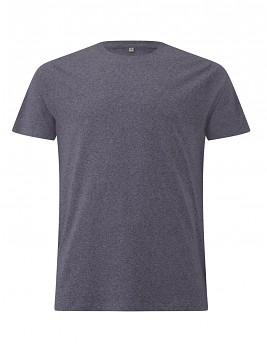 Pánské/unisex tričko s krátkými rukávy ze 100% biobavlny - šedočervená wine twist