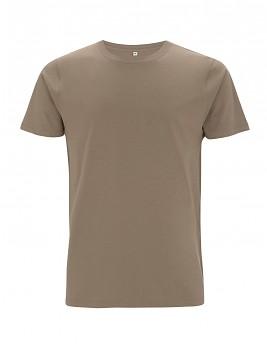 Pánské/unisex tričko s krátkými rukávy ze 100% biobavlny - světle hnědá walnut