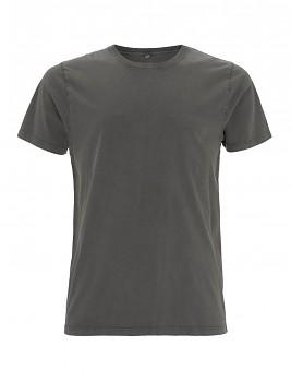 Pánské/unisex tričko s krátkými rukávy ze 100% biobavlny - šedá stone wash