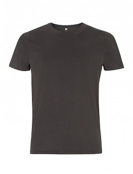 Pánské/unisex tričko s krátkými rukávy ze 100% biobavlny - šedá dark charcoal