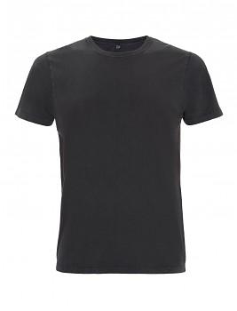 Pánské/unisex tričko s krátkými rukávy ze 100% biobavlny - černá stone wash