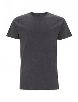 Pánské/unisex tričko s krátkými rukávy ze 100% biobavlny - černá melange