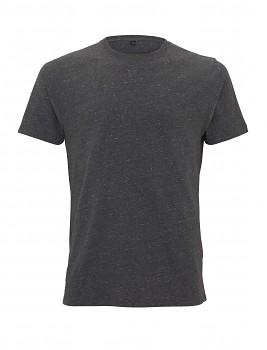 Pánské/unisex tričko s krátkými rukávy ze 100% biobavlny - černá twist