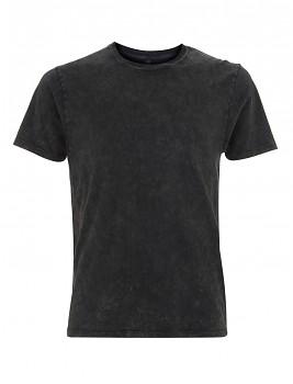 Pánské/unisex tričko s krátkými rukávy ze 100% biobavlny - černá acid