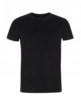 Pánské/unisex tričko s krátkými rukávy ze 100% biobavlny - černá