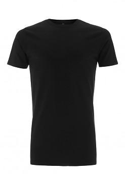 Pánské dlouhé tričko s krátkým rukávem ze 100% biobavlny - černá