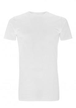 Pánské dlouhé tričko s krátkým rukávem ze 100% biobavlny - bílá