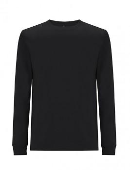 Pánské/unisex tričko s dlouhými rukávy ze 100% biobavlny - černá