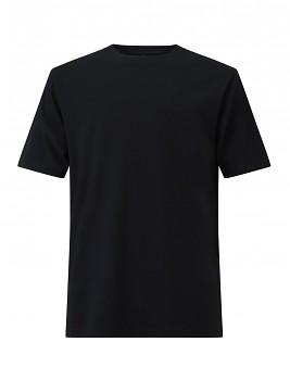 Pánské/unisex oversized tričko s krátkými rukávy ze 100% biobavlny - černá