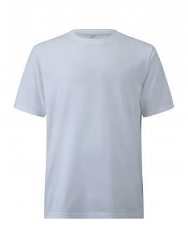 Pánské/unisex oversized tričko s krátkými rukávy ze 100% biobavlny - bílá