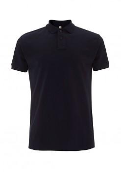 Pánské košilové tričko s límečkem ze 100% biobavlny - tmavě modrá navy