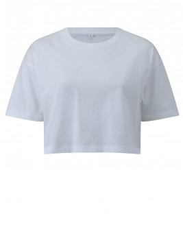 Dámské krátké tričko s krátkými rukávy ze 100% biobavlny - bílá