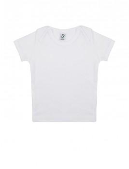 Dětské tričko s krátkými rukávy ze 100% biobavlny - bílá