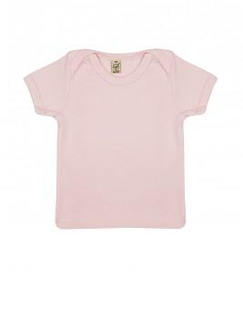 Dětské tričko s krátkými rukávy ze 100% biobavlny - růžová powder