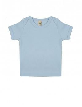Dětské tričko s krátkými rukávy ze 100% biobavlny - modrá soft