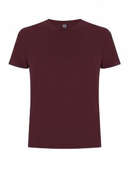 FS pánské/unisex tričko ze 100% fairtrade biobavlny - fialová burgundy