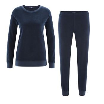 BONNIE dámské pyžamo ze 100% biobavlny - tmavě modrá navy