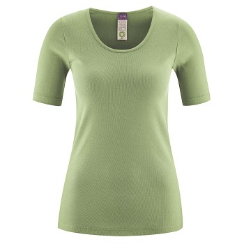JULIANE dámský top s krátkými rukávy ze 100% biobavlny - zelená pistachio
