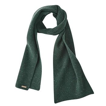 JENA unisex teplá pletená šála ze 100% bio vlny - zelená forest