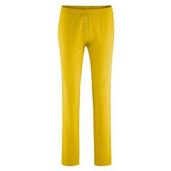 CAROL dámské pyžamové kalhoty ze 100% biobavlny - žlutá brass